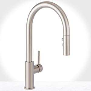 Miseno MK191 Gemma Pull-Down Dual Spray Kitchen Faucet - Includes Deck Plate