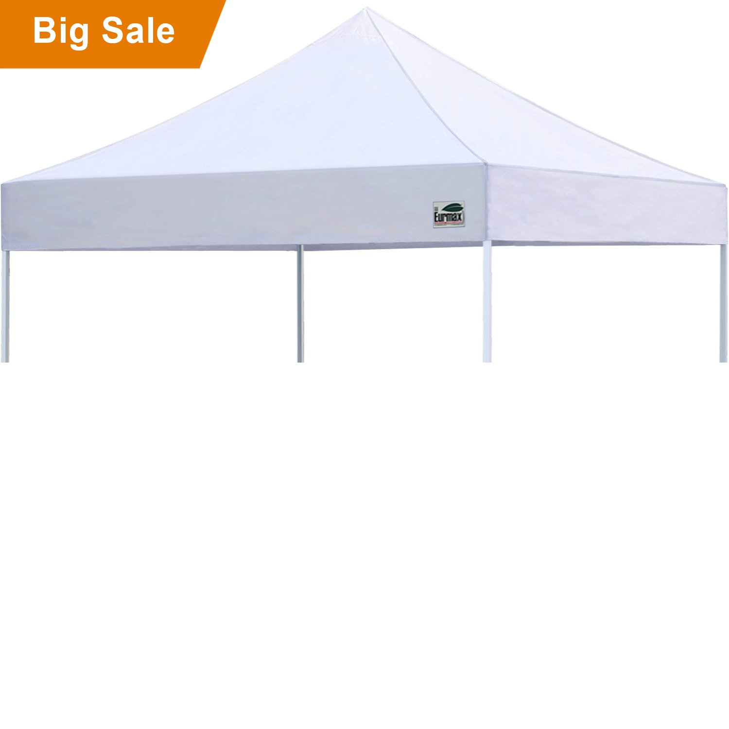 Eurmax New Pop up 10x10 Replacement Instant Ez Canopy Top Cover Choose 15 Colors (White)