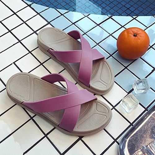 Con Mujer Zapatillas Planos X Mujer Zapatos Arrastrar Zapatos Cool Suaves Y Y Soltar Femeninas Planos Zapatos Rosa De Cómodas Verano GAOLIM qSOg7nCwn