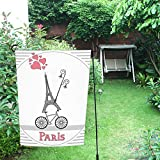 JC-Dress Garden Flag Paris Bike Outdoor Flag Deocration 12''x18''
