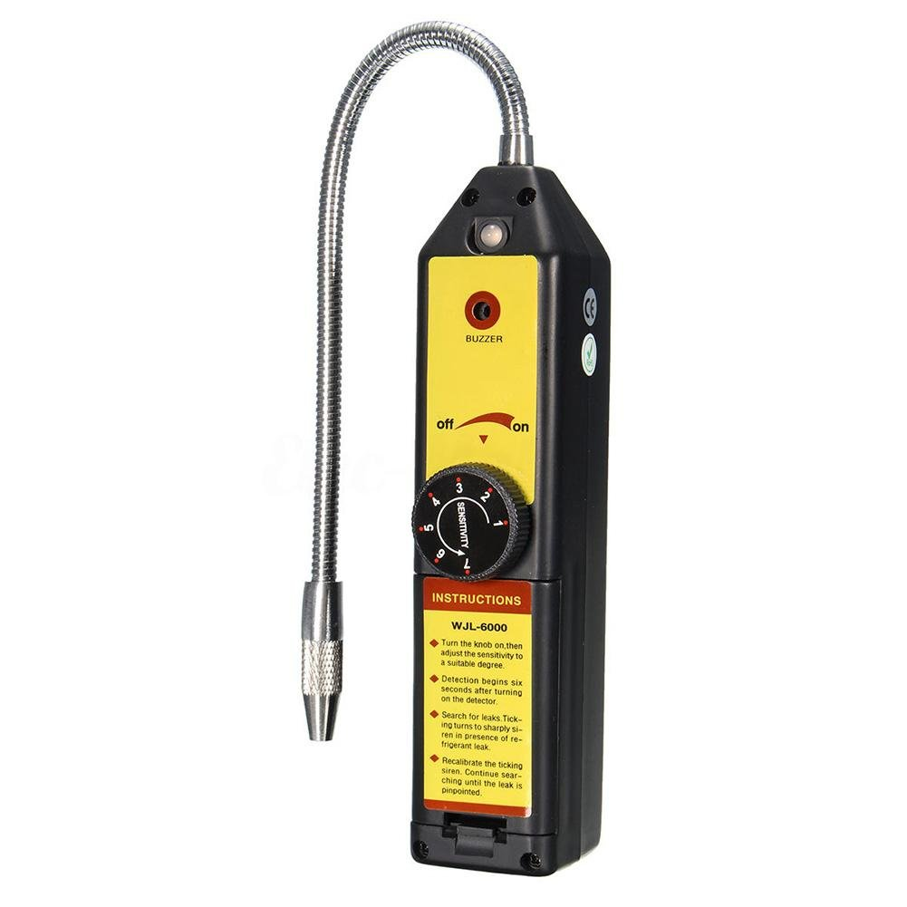 Refrigerant Halogen Leak Detector, Air Condition Portable Freon Tester for Home Portable R134A R410A R22A HFC CFC HVAC CFCs HCFCs HFCs Gas Leakage Detect Tool Checker