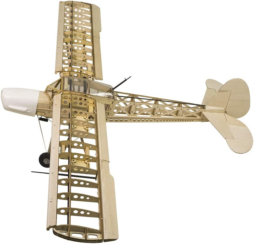 S2101 DW Hobby 63 Balsa Wood Airplane Fi156 Storch 1.6M Electric Wooden Model Aircraft KIT Need to Build; Remote Control Airplane KIT for Adults