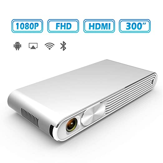 YYBF Mini Proyector, Portátil Proyector Cine En Casa, 1080P Full ...