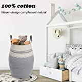 Oiahomy Laundry Hamper Woven Cotton Rope Large