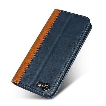 e73f7587ec Amazon   iPhone 7/iPhone 8 スマホ ケース 2色組合せ 二色接合 手帳型 ...