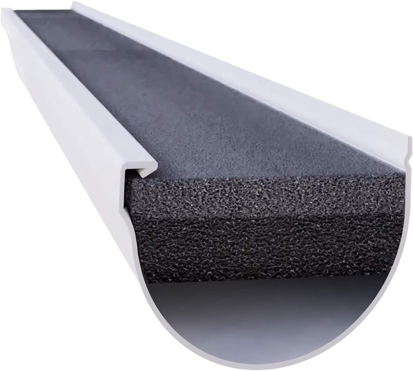 GutterStuff Pro 4-Inch Half Round Style Foam Gutter Filter Insert