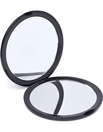 Beauty & Health Makeup Mirrors Portable Hand Pocket Heart-shaped Double Folded-side Mirror For Woman Make Up High Quality Materials