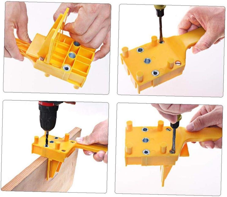 Berrywho Legno Locator Foratura spinatura Hole Sega Strumento Maschere tenuto in Mano a Bordo di Legno di Collegamento e Revolving 4PCS Hole