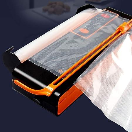 QWERTOUY Máquina de envasado al vacío Mini sellador de vacío automático para Alimentos Cuchillo de Corte Propio Bolsa Ranura Empacadora de vacío Que Incluye Bolsas de 10 Piezas,A: Amazon.es: Hogar