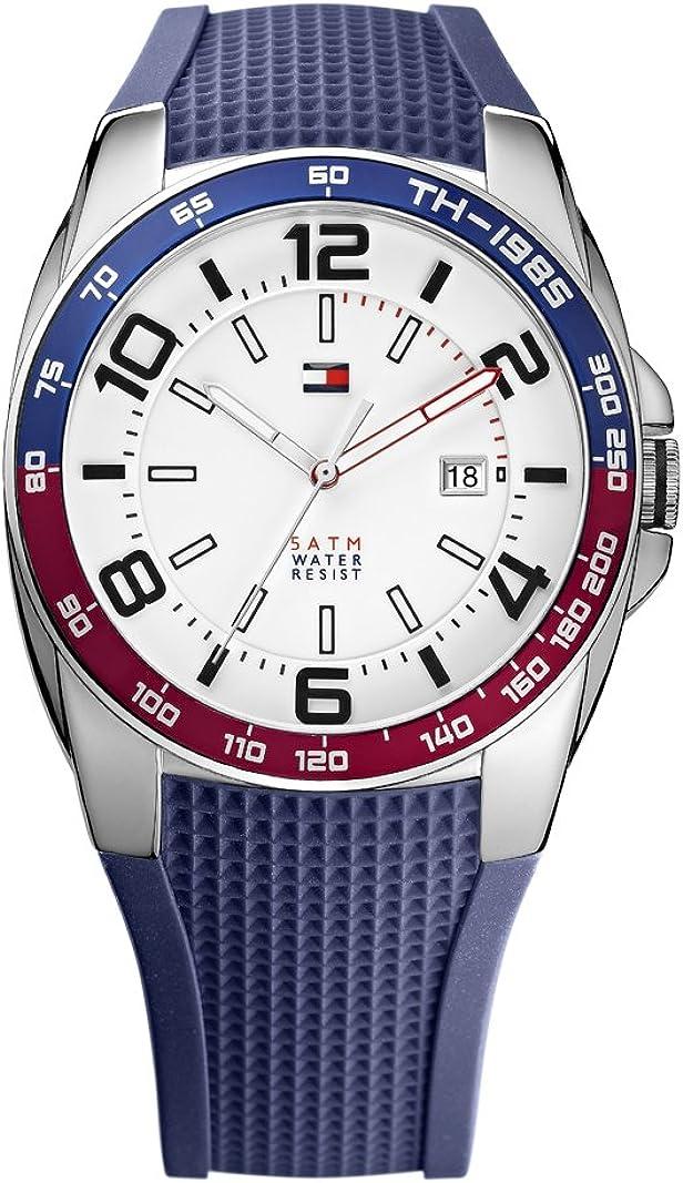 Tommy Hilfiger 1790885 - Reloj de Cuarzo para Hombre, Correa de Silicona Color Azul