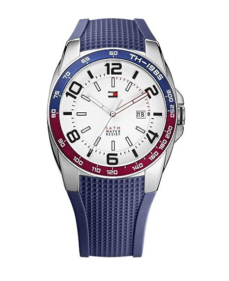 Tommy Hilfiger 1790885 - Reloj de cuarzo para hombre, correa de silicona color azul: Tommy Hilfiger: Amazon.es: Relojes
