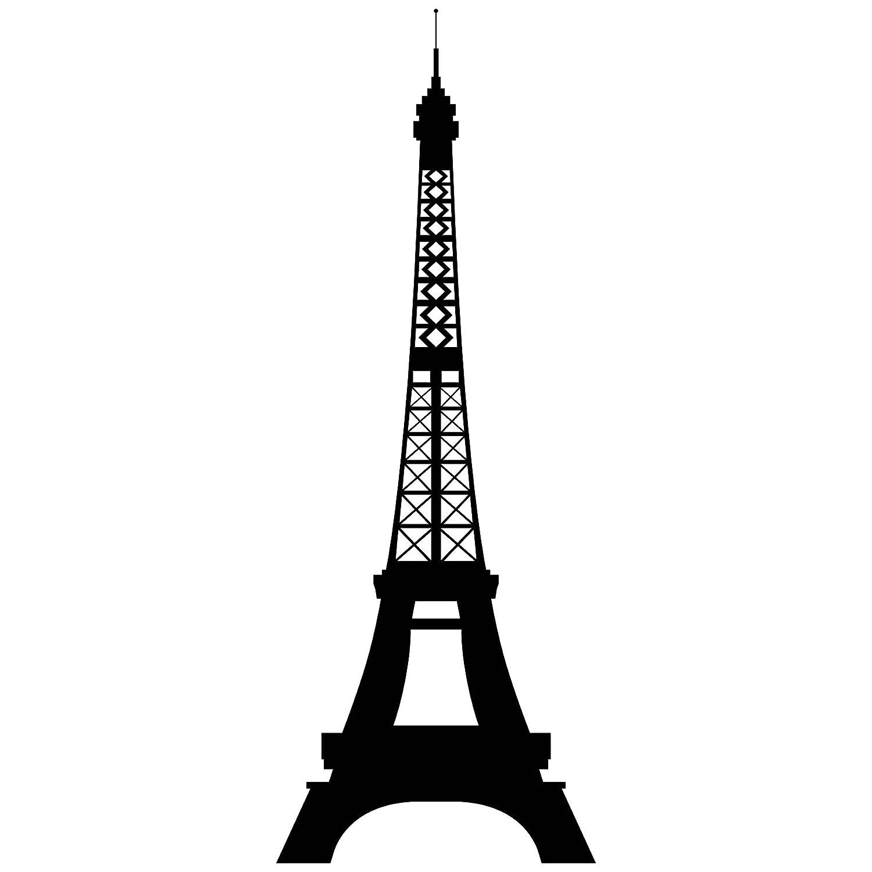 Cuadros Lifestyle Wandtattoo Wandaufkleber - Eiffelturm, Größe 60x135 cm, Farbe Schwarz