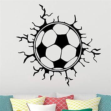 pegatinas de pared Fútbol creativo Balón de fútbol deportes niños ...