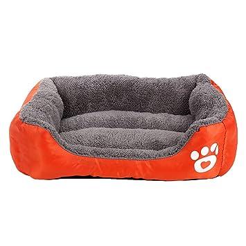 LvRao, caseta cama para perros pequeños, gatos, peluche ultrasuave, rectangular, sofá