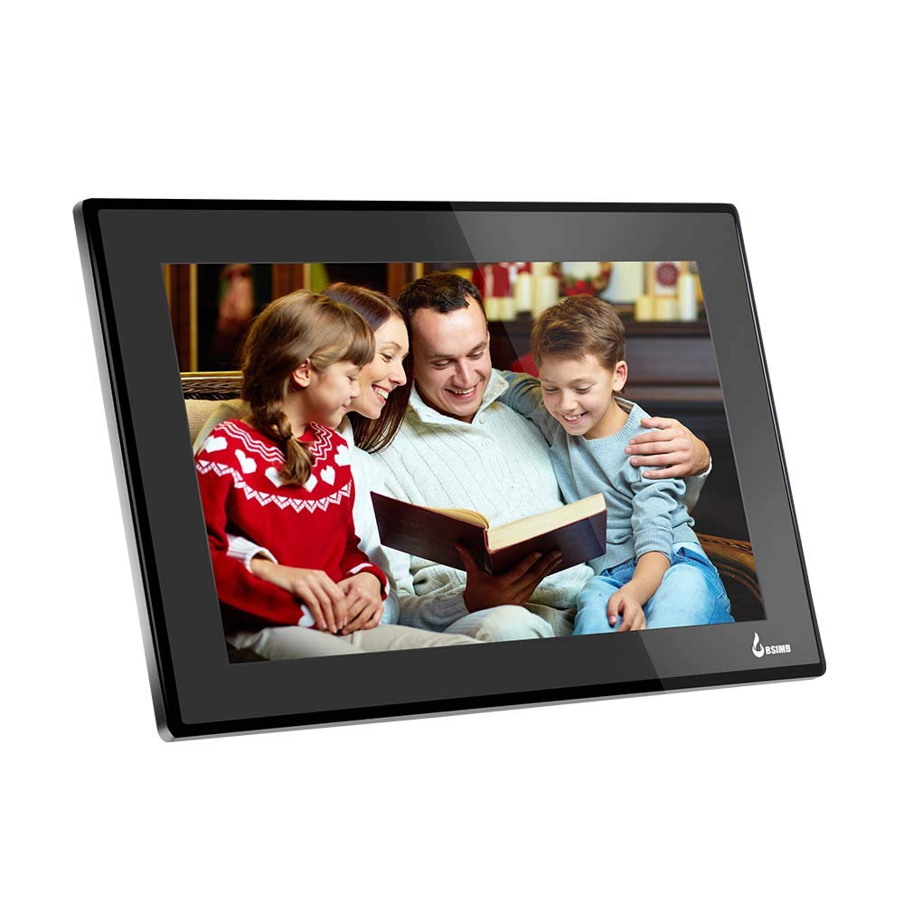 BSIMB 15.6 Inch WiFi Cloud Digital Picture Frame Digital Photo Frame Full HD 1920x1080 IPS Touch Screen 8GB Storage Share Photos and Videos from Smartphone App Twitter Facebook Email