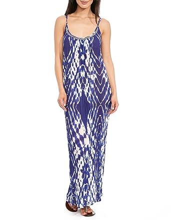Figleaves Womens Kaya Beach Maxi Dress Size Medium in Purple  Amazon ... b519283e3