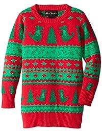 Alex Stevens Boys' Dinosaur Fair Isle Ugly Christmas Sweater