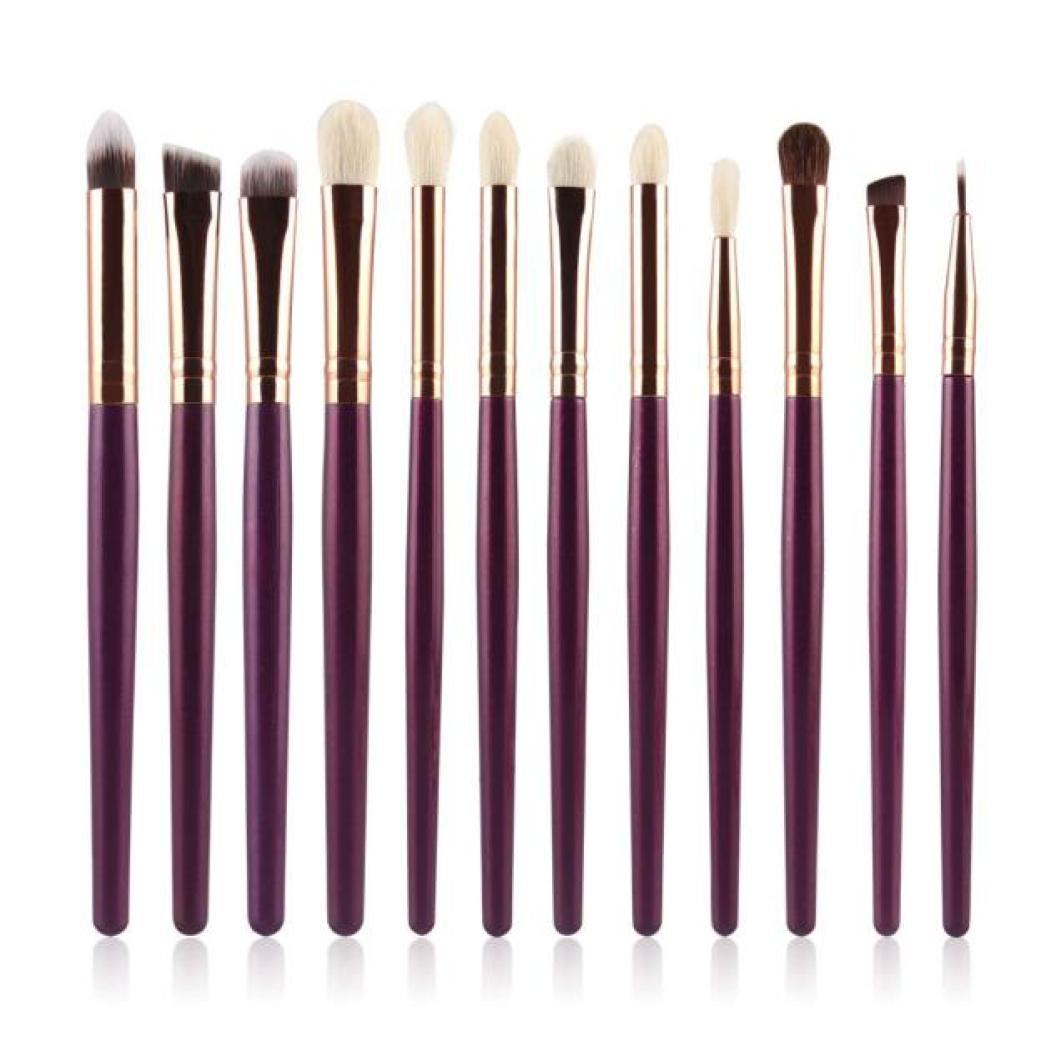 Hot,Yang-Yi 2018 Fashion Women 12Pcs Beauty Cosmetic Brush Makeup Brush Sets Kits Tools (Khaki, 12Pcs) YANG-YI Beauty