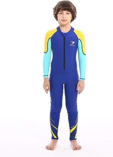 Kids Boys Girls Swimwear Rash Guard Swimsuit Sun Protective Bathing Surfing Suit