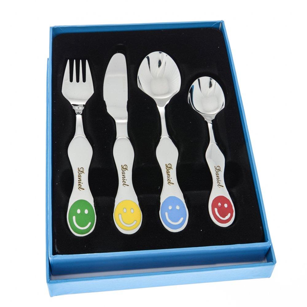 Set de cubiertos infantiles personalizados - Regalo para bebés o niños: Amazon.es: Hogar