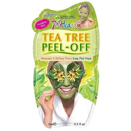 7th Heaven Facial Masks Pack of 12, Tea Tree Peel-Off .3 oz
