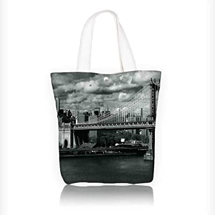 7cb593a8d1f7 Amazon.com: canvas tote bag Panorama of Skyline with Focus on ...