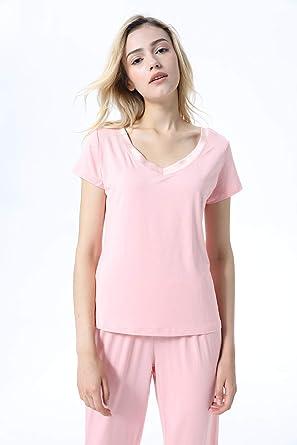 EDAH®Pijamas Mujer Saten Mujer Camisones Satin Pijamas 2 ...