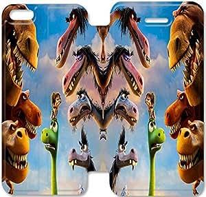 iPhone 5 5s funda,NSDFIUOSY6432 Flip cubierta y Stand para iPhone 5 5s - DINOSAURIO