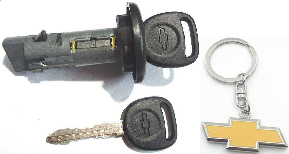 Buick Cadillac Chevy OEM Chrome Ignition /& Door Lock Key Cylinder Set 2 GM Keys