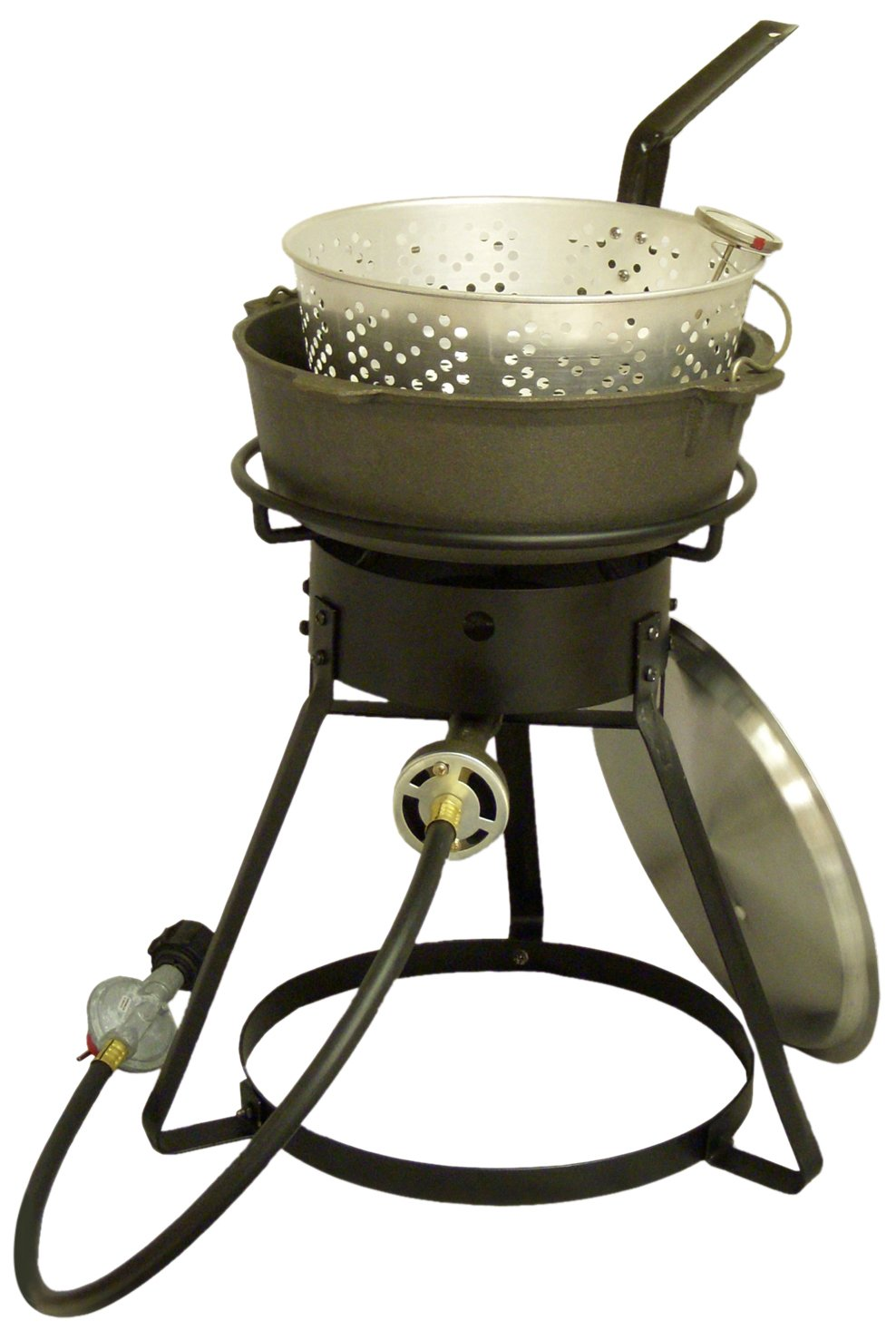 King Kooker 1644 16-Inch Bolt Together Outdoor Propane Cooker with Cast Iron Pot Package