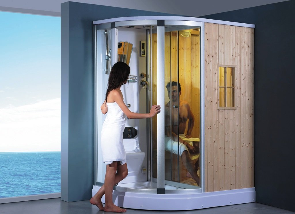 Deluxe Wet And Dry Shower Sauna Combo System, With Sauna Cabin:  Amazon.co.uk: Garden U0026 Outdoors
