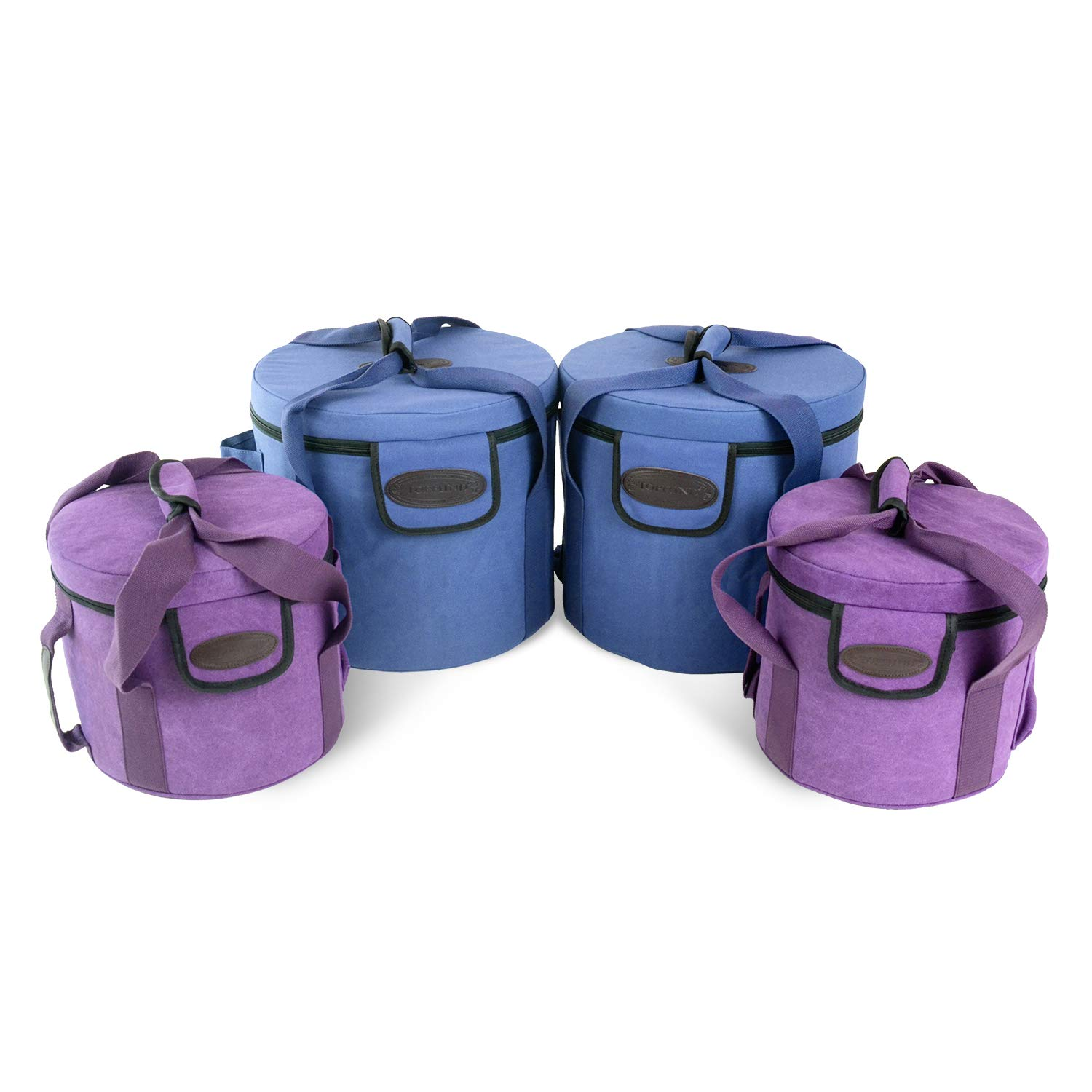 TOPFUND Heavy Duty Padded Carrying Cases Set for 7 Chakra Singing Bowls Set 8-12 inch by TOPFUND
