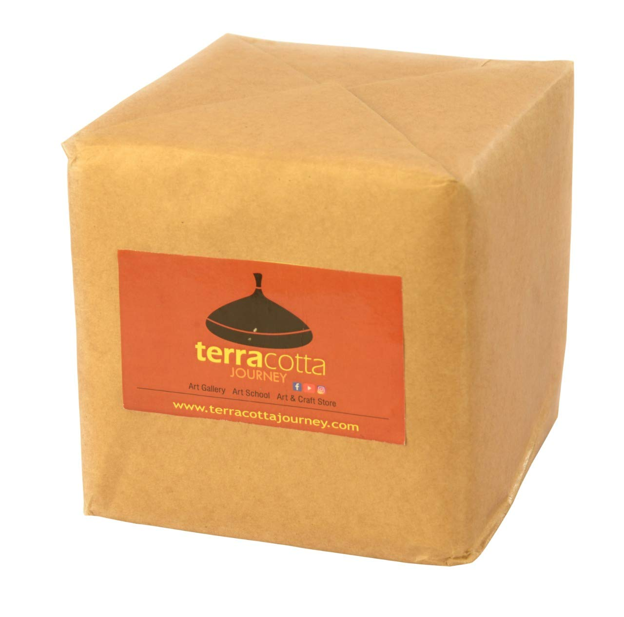 Terracotta Journey 100/% Pure and Organic Natural Earthen Eco friendly Clay for Homemade Jewelry Making and Pottery 1 kg