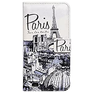 Bcov Retro Paris Card Slot Leather Wallet Cover Case For Samsung Galaxy A5
