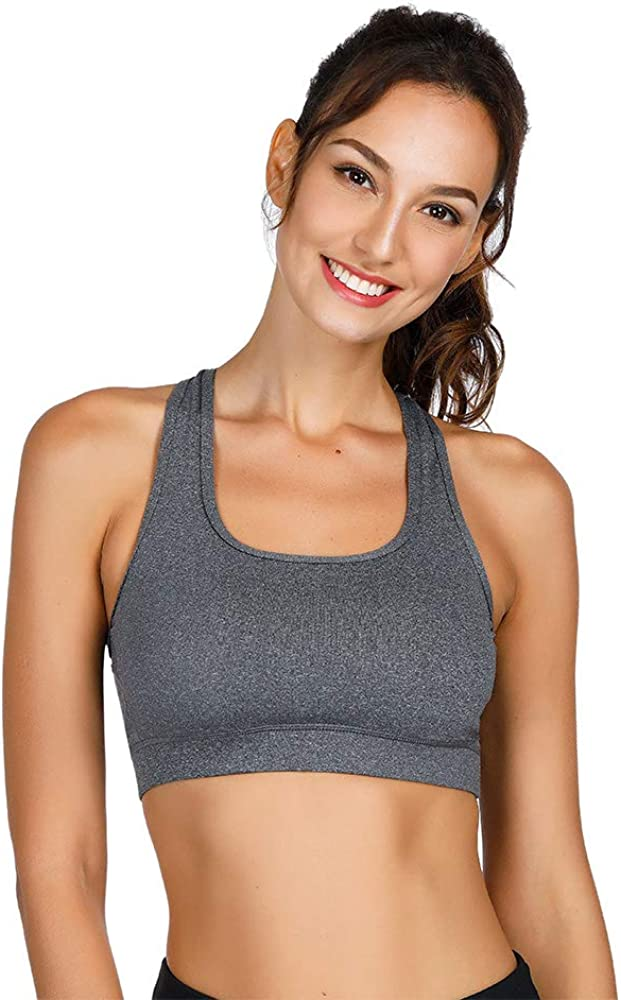 Cross Back Padded Yoga Bras Comfortable Yoga Tank Top with Removable Pads KDD Yoga Strappy Sports Bras