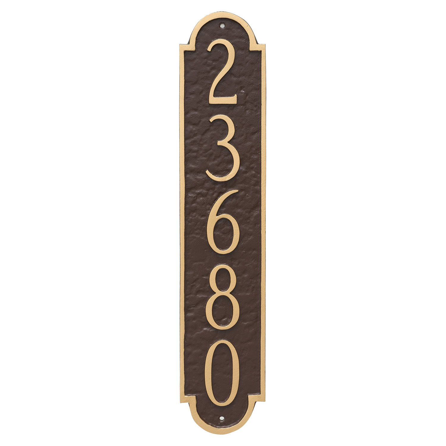 Montague Metal PCS-0128S1-W-BW Rockford Column Address Sign Plaque, 18.75'' x 3.75'', Black/White