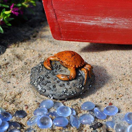 Crab on a Rock for Miniature Garden, Fairy Garden