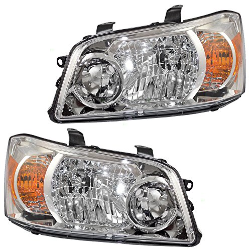 Driver and Passenger Headlights Headlamps Replacement for Toyota SUV 81170-48550 81130-48550 AutoAndArt