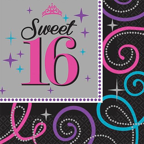 Beverage Napkins | Sweet Sixteen Celebration Collection | Birthday -