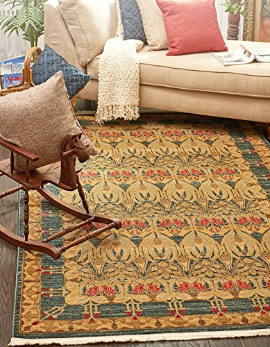 Traditional Oriental Country Rugs Navy Blue 7′ 1 x 10′ FT (216cm x 305cm) Westminster Area Rug & Carpet For living room – dinning rooms – bedroom