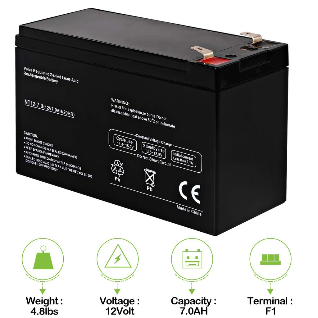 Wiring Diagram For Hoveround Mpv4 Electrical Rechargeable Battery Amazon Com Hykolity 12v 7ah Razor Scooter Mx350 M400 Pocket Mod Power Chair Dimensions