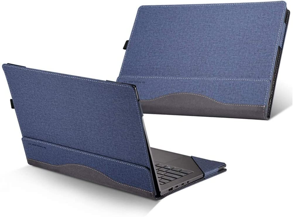 Funda de cuero Lenovo Yoga C740 14 azul