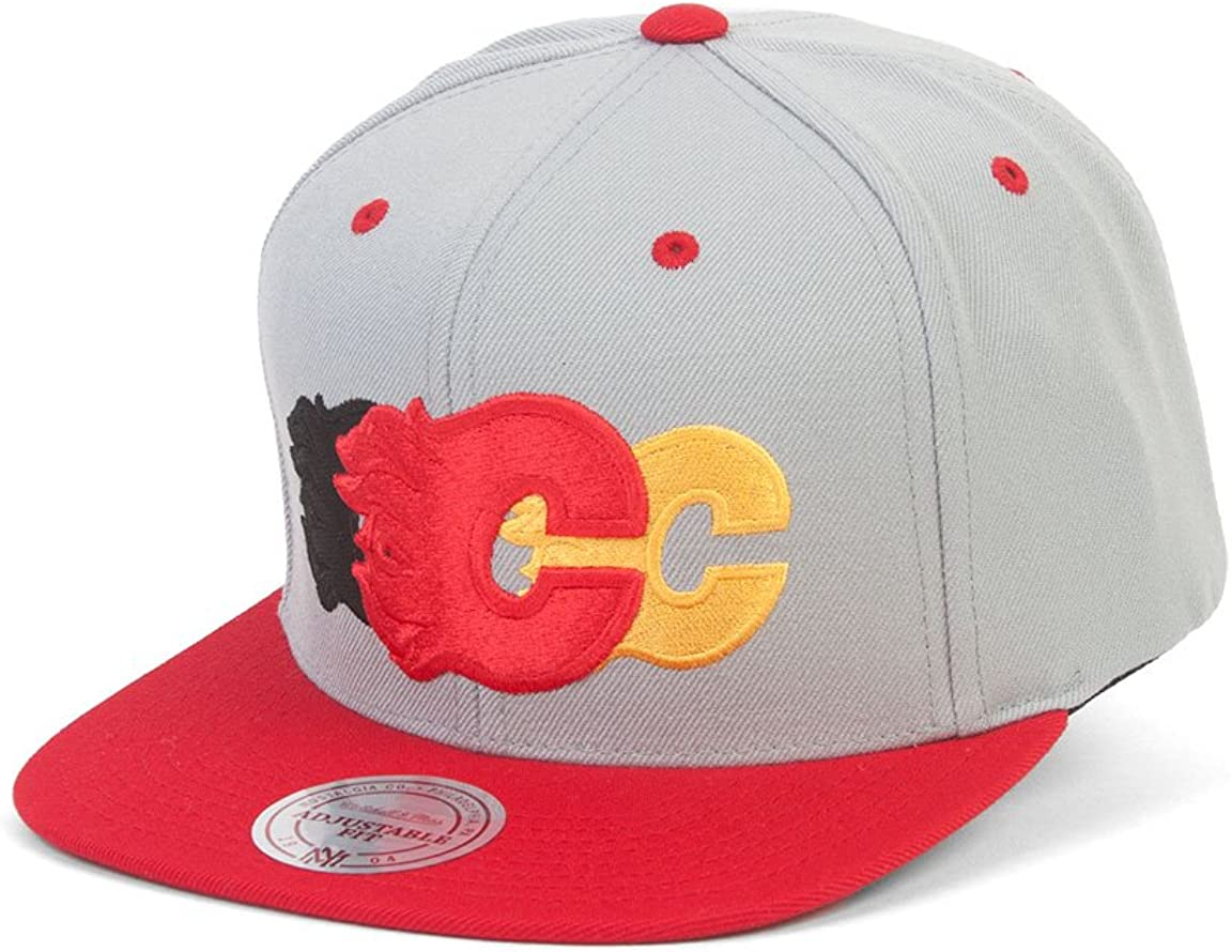 Mitchell /& Ness Calgary Flames Triple Color Stack