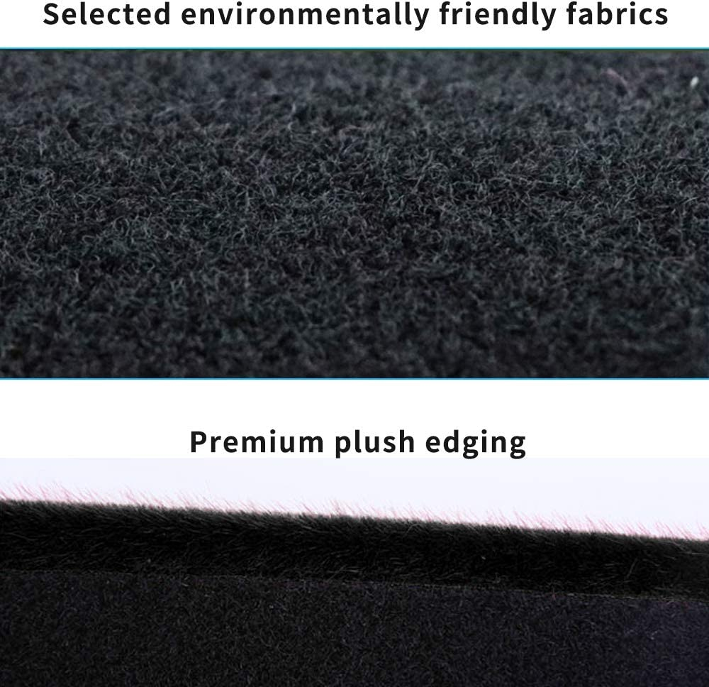 Dashboard Cover for Nissan Murano 2015-2018 Original Car Custom Dash Mat Anti Reflective Heat Resistant Dash Carpet Leather Black