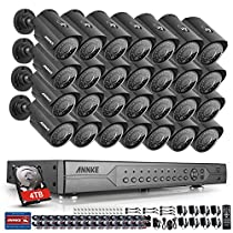 Annke 32CH 720p AHD-TVI Security Camera System 1080N DVR Reorder with 4TB Hard Drive and (28) HD 1280TVL Indoor/Outdoor CCTV Cameras with IP66 Weatherproof and Motion Detection
