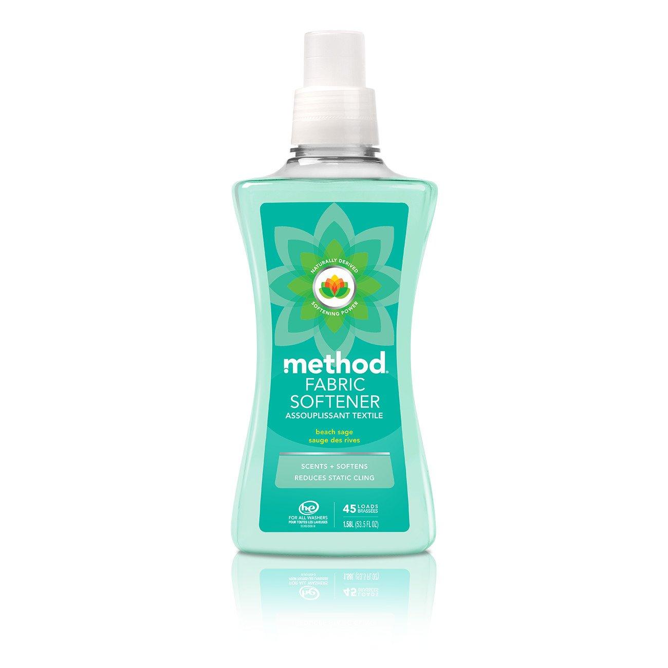 Method Fabric Softener, Beach Sage, 53.5 Ounces, 45 Loads