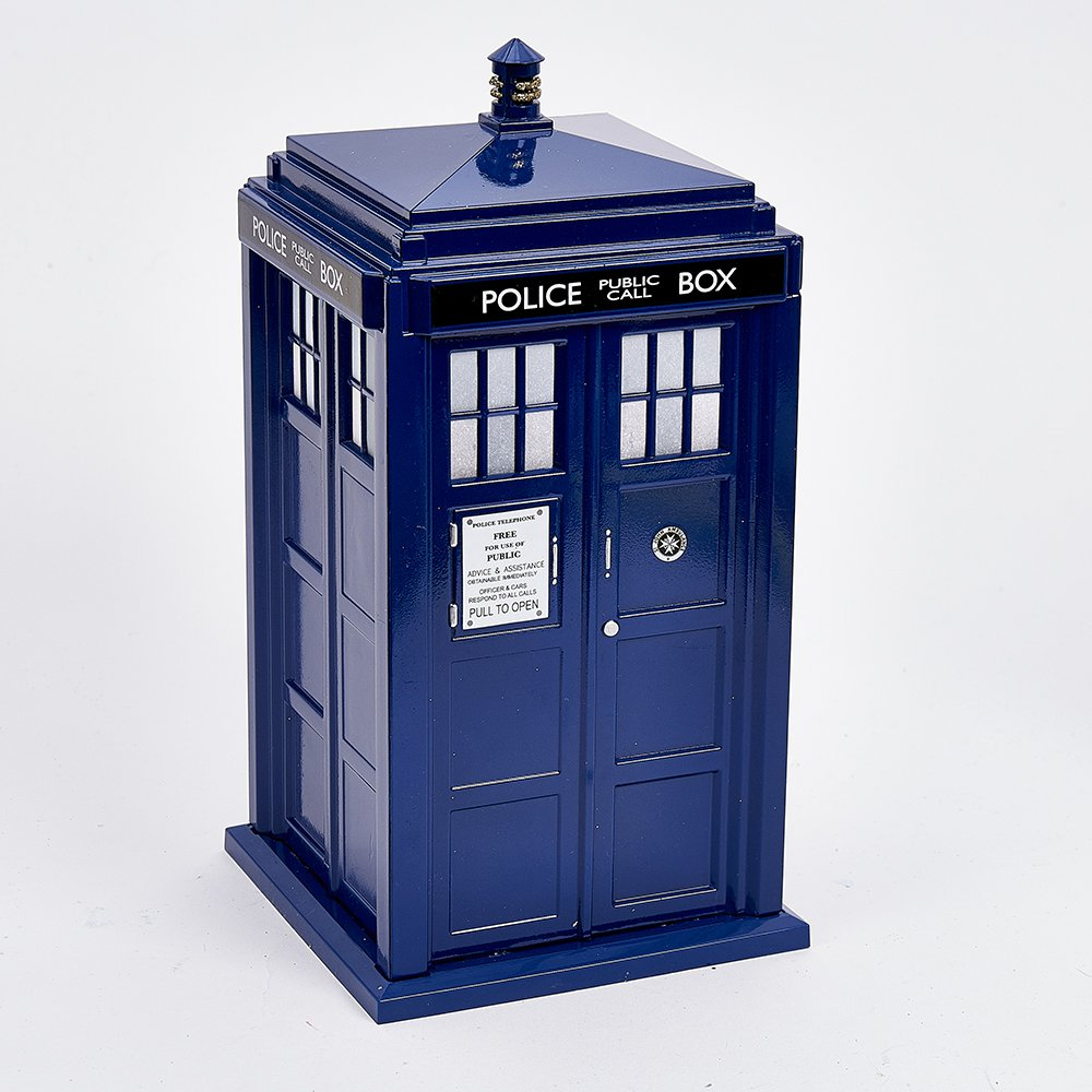 Kurt Adler 9'' Dr Who Tardis Treetop with Light