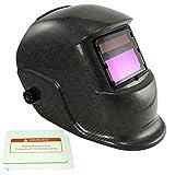iMeshbean Adjustable Auto Darkening Solar Welding Helmet Arc/Stick /MIG/MAG/ Tig Grinding Many Different Styles USA (Carbon Fiber)