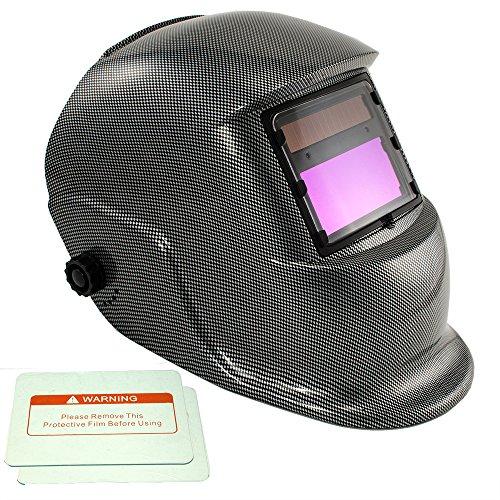 - iMeshbean Full Automatic Solar Auto Darkening Welding Hood Helmet Carbon Fiber Grinding Mask USA