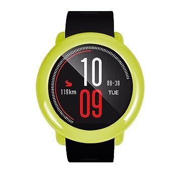 Para Xiaomi huami amazfit reloj inteligente elegante PC Carcasa proteger Carcasa de Repuesto, Y56 moda delgado marco colorido PC Carcasa proteger ...